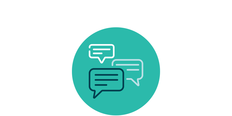 access to a facilitated forum with your peers